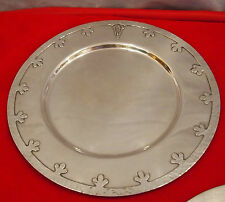 15 DINNER PLATES STERLING VERY RARE 346  OUNCES MUSEUM  PIECES BY:JOHN O'BELLIS