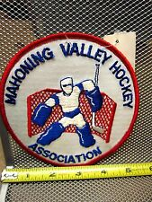 MAHONING VALLEY HOCKEY ASSOCIATION vtg embroidery patch OHIO Youngstown Warren