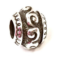 Brighton Victorian Scroll Bead, J94940 Silver Finish,  New