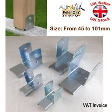 "THE BETTER ONES 5 X BIRDMOUTH GALVANISED FENCE POST STRAP FOR  4/"" POST"