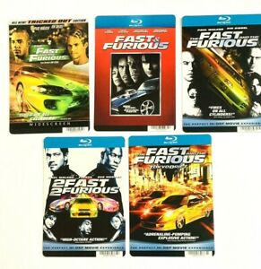 The Fast & The Furious DVD Store Display Promo Advertising Cards, Lot of 5