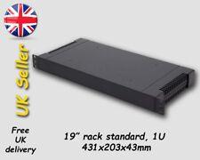 "Black 1U 19"" Inch Rack Mount plastic case box enclosure ABS"