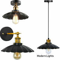 Vintage Style Modern Industrial Caged Ceiling Pendant Light Shade Easy Fit Lamp