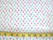 #290 New Flannel Fabric BTY ; 2 Yards (pick size) Gypsy triangle purple green pk