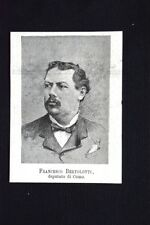 I nuovi deputati 1882: Francesco Bertolotti, deputato di Como