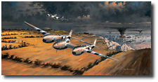 Front Row Seats (Artist Proof) by Ross Buckland - P-38 Lightning - Robin Olds