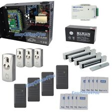 H10301 Card Security Systems+280kg Mag lock+ Reader+Card+Big PSU+Backup Battery