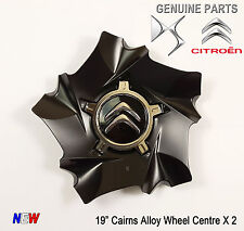 """2x Citroen DS4 DS5 C4 19"""" Cairns Style Alloy Wheel Centre New Genuine 9670494377"""