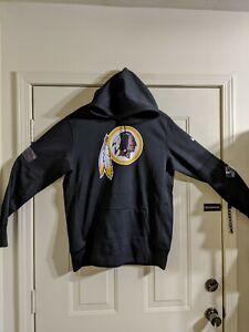 Mens Nike Flex Dry Washington Redskins Black Hoodie Medium New COLLECTORS ITEM