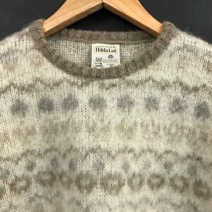 Hilda Ltd Women's 100% Pure Wool Pullover Sweater Made in Iceland sz S Small