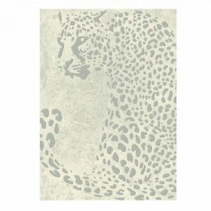 The Rug House Echo Contemporary Biege Animal Print Leopard Easy Living...