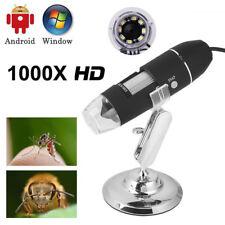 Digitales Mikroskop Lupe Endoskop USB Microscope Kamera 8LED 1000 X Vergrößerung