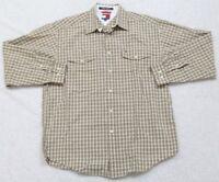 Tommy Hilfiger Dress Shirt Button Up Long Sleeve Medium Mens Mans Two Pocket Top