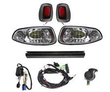 EZGO RXV Golf Cart LED Headlight & Tail Light Deluxe Light Kit