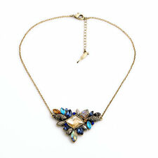 Colorful Sapphire Isabel Style Sunset on the Seine Statementnecklace