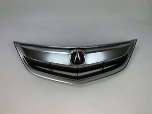 Fits 13 14 15 Acura ILX / Hybrid Grille W/ Emblem Assembly Chrome Base Molding