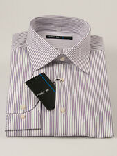 New Cerruti 1881 Stripe Long Sleeve Multi-Color Cotton Shirt 44 / 17.1/2