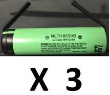 "Brand New ""3""  Panasonic 18650 NCR18650B 3.7V 3400mah  Battery, w/ Tabs, Japan"