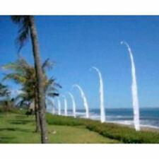 BALI FLAGS 2 x 4 Meter WHITE WEDDING BEACH GARDEN PARTY  4M BALINESE Flag ONLY