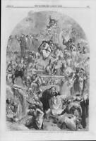 1864 FINE ART Antique Print - Tableau Shakspeare Characters John Gilbert  (96)