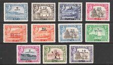 ADEN 1951 GEORGE VI OVERPRINT SET (LHM) (SG36-46) CV £85