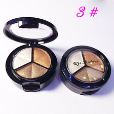 Pro Smoky Makeup 3 Colors Natural Matte Eyeshadow Shimmer Eye Shadow Palette #