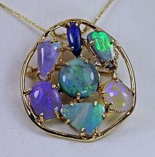 1950s Custom Opal 14K Gold Pendant or Brooch Estate Jewelry