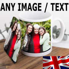 More details for personalised photo mug and coaster christmas / joke gift set add your image text