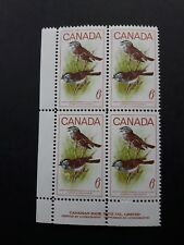 CANADA #496 6¢ Birds White Throated Sparrow LL Plate Block Mint Never Hinged