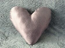 LARGE Handmade READY-FILLED Mulberry ZED Heart Cushion (Geometric Design)
