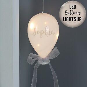 Personalised Light Up LED Glass Balloon Birthday Wedding Babyshower Christmas