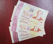 2015 SINGAPORE $10 'COMMEMORATIVE' GEM UNC @ 5 POLYMER Notes (P-60a)