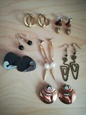 """Earrings one signed """"Made in Italy"""" Vintage 7 Pairs of Amazing Modernistic"""