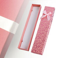 HB- Rectangle Pink Bowknot Necklace Bracelet Jewelry Storage Case Packaging Gift
