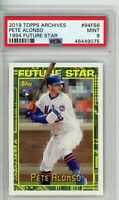 2019 Topps Archives Future Star Pete Alonso #94FS6 PSA 9 RC Rookie New York Mets