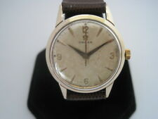 Omega Vintage 9K Solid Gold Case Tropical Dial Manual Wind Watch