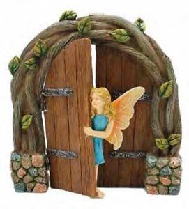 Peek a Boo Hinged Fairy Door w Fairy MG 409 Miniature Fairy Garden