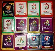 LOTTO 12 BUSTINE DIVERSE PACKETS FIGURINE PANINI UEFA EURO DAL 2004 AL 2016