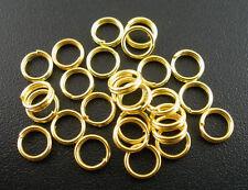 100 Anneaux double de jonction Doré 5mm, Creation bijoux, colier, .... 5 mm