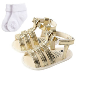 Toddler Girls' Sandals Faux Leather Strapped Gladiator Flats Sandals Back Zipper