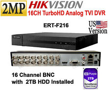 Hikvision US 16CH 2MP Turbo HD DVR up to 1080p H.264 UL Listed 2TB HDD included