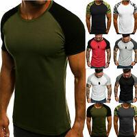 Men's Short Sleeve T-Shirt Raglan Sleeve Tee Shirt Slim Fit Stylish Top Blouse