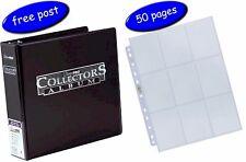 Black Ultra Pro Collectors Album/Binder & 50 Platinum 9 Pocket Pages inc UK Post
