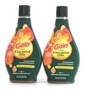 2 Gain 16 Oz With Essential Oils Orange Energetic Grapefruit Laundry Detergent