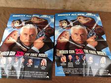 2 1994 Naked Gun 33 1/3 Original Movie House Full Sheet Posters