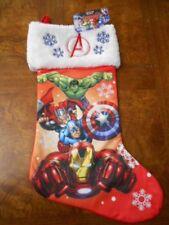 Marvel AVENGERS Captain America Iron Man Hulk Thor Christmas Stocking NWT