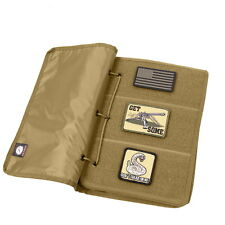 Coyote Brown Tan Tactical Military Army BDU Morale Patch Book Holder Case