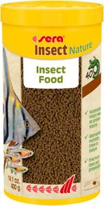 Sera 400g Insect Nature Fish Food Granule 1L Natural 100% Protein *NEW*