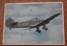 Ardath Tobacco: Fighting & Civil Aircraft 1936 No.23/25 Percival Gull
