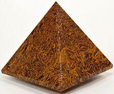 """2.3"""" Mariyam Jasper Pyramid Natural Fossil Crystal Calligraphy Stone - India"""